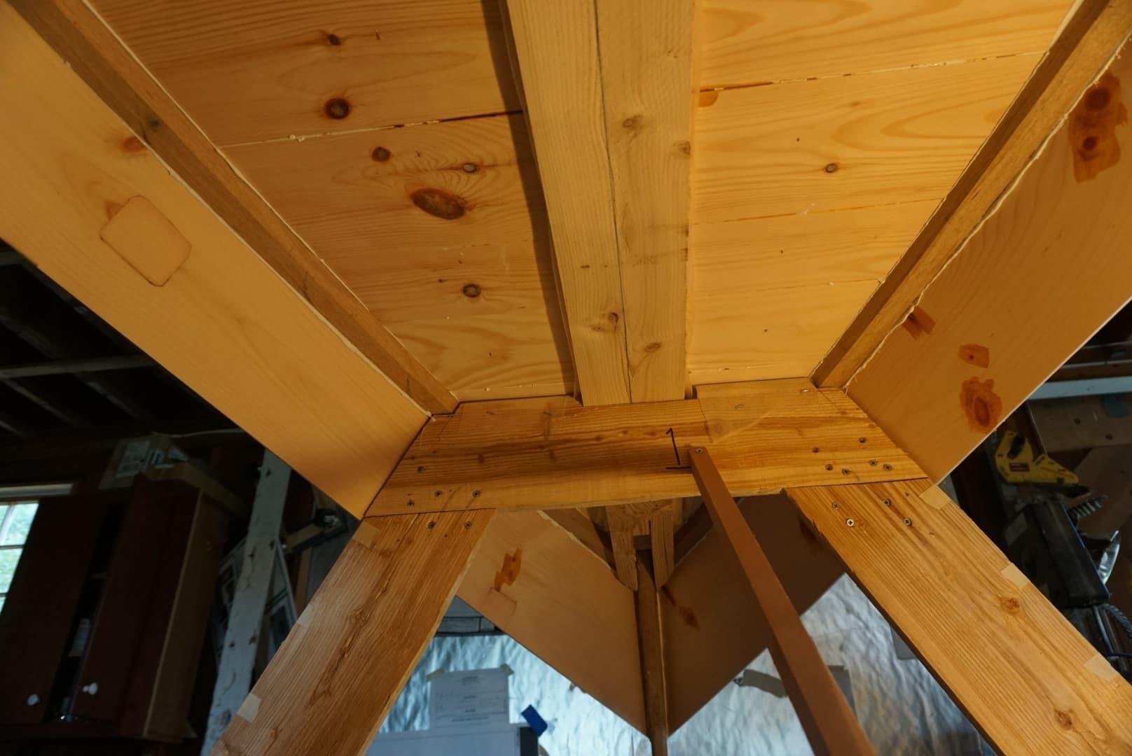 Yankee Tender underside, Weeping Willow Woodworks in Cummaquid, MA